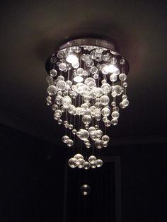 I SOOO want a bubble chandelier over my bathtub!!!