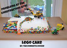 much easier lego cake idea!