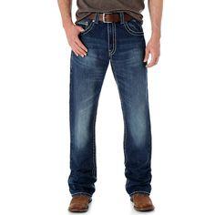 Wrangler Men's Rock 47 Slim Fit Boot Cut Lead Singer Jean