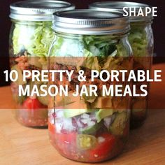 Pretty and Portable Mason Jar Meals for Your Picnic