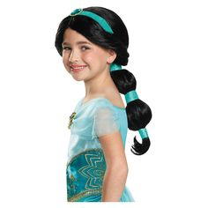 Halloween Girls' Disney Princess Jasmine Wig
