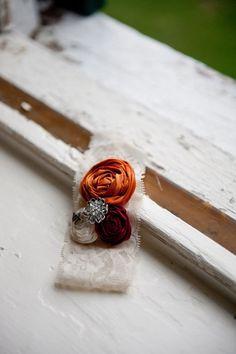 Orange Maroon and white or ivory wedding by LoveYourLittleOne, $26.99