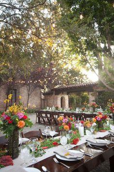 tablescape, event decor, flowers, rustic, outdoors