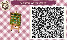 ACNL QR Code: Mossy Autumn Grates