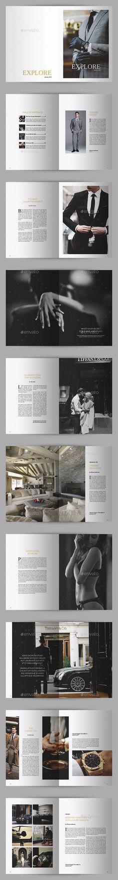 Explore Luxury Magazine Template | #magazinetemplate | Download: http://graphicriver.net/item/explore-luxury-magazine/9895139?ref=ksioks