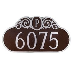 Monogram 1-Line Address Plaque - PCS-14-B/S-LS