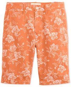 Denim & Supply Ralph Lauren Men's Slim Fit Floral-Print Cotton Chino Shorts - Red 33