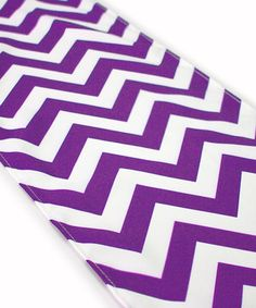 Love this Royal Purple Zigzag Table Runner by Koyal Wholesale on #zulily! #zulilyfinds