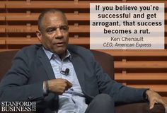 American Express CEO Ken Chenault shares tips on how to build a successful brand while keeping your ego in check.
