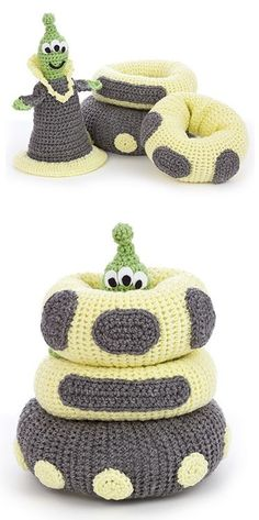 Crochet Playtime Stackers - Cool idea!