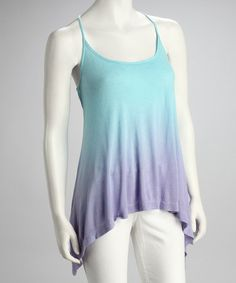 Take a look at this Sky Blue & Lilac Racerback Tank - Women by Erge on #zulily today!