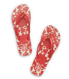 Tory Burch Thin Flip-Flop: Lava Red