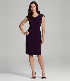 e10705d6b0f Alex Evenings Beaded-Shoulder Dress Designer Cocktail Dress