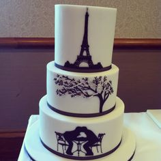parisian wedding cakes theme on wedding eiffel towers 18115