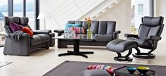 Stressless Legend Sofa Collection with Magic Chair