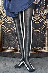 Extraordinary Vertical Striped Cotton OTK...Sock Dreams rock my world