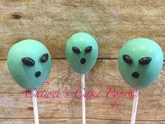 Alien Cake Pops UFO Cake Pops Cake Pops, 11th Birthday, Birthday Parties, Birthday Celebrations, Alien Cake, Rocket Cake, Alien Party, Alien Invasion, Space Aliens