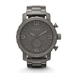 Nate Chronograph Stainless Steel Watch - Smoke JR1400 | FOSSIL®