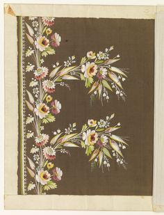 Embroidery Sample, ca. 1800