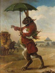 École française fin du XVIIIe siècle, entourage de Jean-Baptiste Le Prince, Portrait de Hilaire Rouillé du Coudray dit de Boissy, marquis de Boissy et du Coudray (1765-1840) en lapin