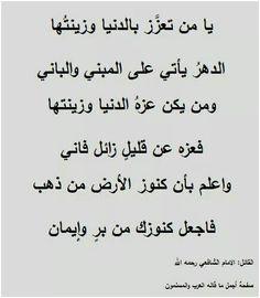 الإمام الشافعي رحمة الله عليه