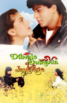 dilwale dulhania le jayenge poster Bollywood Movies Online, Hindi Movies Online, Music Download, Hindi Old Songs, Yash Raj Films, Bollywood Posters, Drama Film, Film Stills, Names