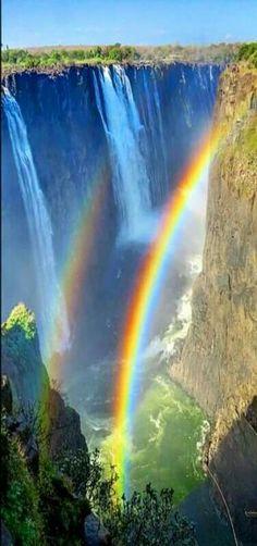 Rainbow over watetfall