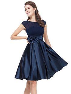 Ever Pretty Womens Cap Sleeve Party Dress 14 US Navy Blue Ever-Pretty http  1b1a6ca38d