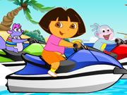 Dora takes part in a jet ski competition,you can choose the hero you like,and try your best to win the first prize.Have fun!