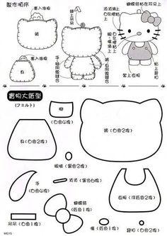 Molde Hello Kitty São mais de 30 moldes da Hello Kitty para você completar a sua coleção. Veja o que você poderá criar com estes mol...