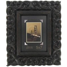 5 x 7 black wide profile frame with deco scroll shop hobby lobby