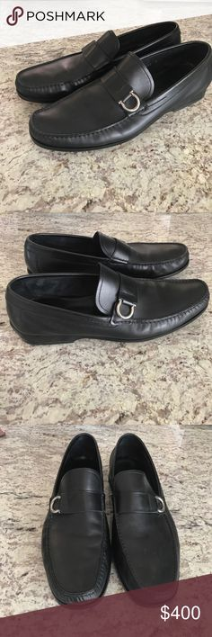 Mens Salvatore Ferragamo leather loafers size 11 Men's Salvatore Ferragamo loafers. Worn less than 5 times. In excellent condition!! No scuffs or flaws on leather. Salvatore Ferragamo Shoes Loafers & Slip-Ons
