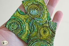 metal--any kind; this is from soda cans--crackle, and alcohol inks