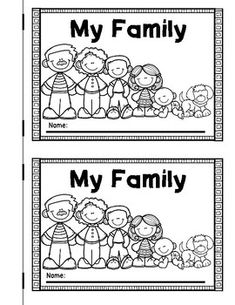 My Family emergent reader. Sight word 'My' or 'is' reader for your families social studies unit in kindergarten. Kindergarten Family Unit, Preschool Family Theme, Kindergarten Social Studies, Social Studies Activities, Preschool Lessons, Preschool Activities, Family Tree Worksheet, Social Studies Lesson Plans, Lesson Plans For Toddlers