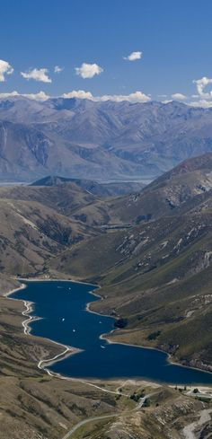 Lake Lyndon, at the top of Porter's Pass in Canterbury, New Zealand