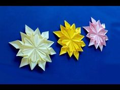 Origami 12 petals flower. Origami snowflake (Dennis Walker). Great ideas for Christmas. - YouTube