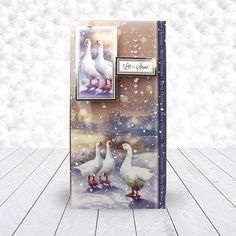 Card created using Hunkydory Crafts' Festive Feathers Topper Set from the White Christmas Topper Collection Christmas Scenes, Christmas Animals, Christmas 2017, White Christmas, Christmas Time, Hunkydory Crafts, Christmas Topper, Classic Theme, Heartfelt Creations