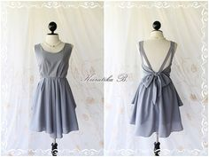 A Party - V Shape Style - Prom Party Cocktail Bridesmaid Dinner Wedding Night Dress Soft Charcoal Gray Sweet Gorgeous Glamorous Dress. $46.30, via Etsy.
