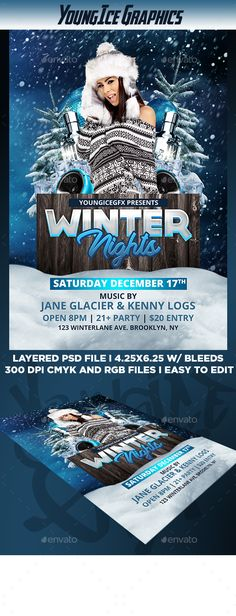 Beach Party Flyer Party flyer, Beach and Flyer template - winter flyer template