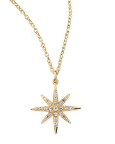 Compass White Topaz Star Pendant Necklace by Elizabeth and James at Neiman Marcus.