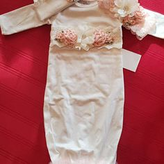 Newborn Girl Coming Home Outfit Newborn Girl Gown Go Home   Etsy Gifts For Newborn Girl, Baby Girl Newborn, Baby Girls, Girls Coming Home Outfit, Take Home Outfit, Bringing Baby Home, Gowns For Girls, Gown Photos, Lace Headbands