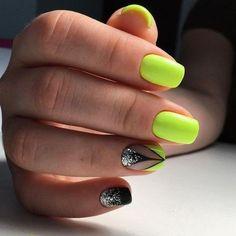 Новости nails yellow nail art, yellow nails и nail art desig Neon Yellow Nails, Neon Nail Art, Yellow Nails Design, Yellow Nail Art, Bright Nails, Neon Nails, Orange Nails, Diy Nails, Glitter Nails