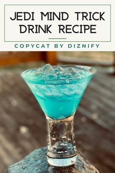 This Jedi Mind Trick copycat is the recipe you're looking for, no mind trick required! Disney Drinks, Disney Food, Fun Drinks, Yummy Drinks, Alcoholic Desserts, Alcoholic Shots, Disney Desserts, Disney Recipes, Disney Parks