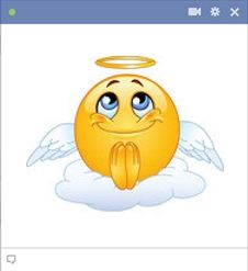Showcase your angelic side with Facebook Angel Emoticon.  #AngelEmoticon #FacebookChat