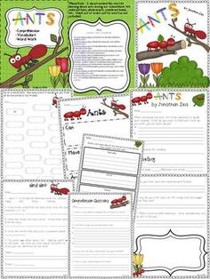 *FREEBIE* Ants {1st Grade Harcourt Trophies}: Comprehension, Vocabulary, Word Work