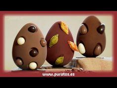 Huevos de Pascua con contramoldes - YouTube
