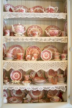 Start or add to your transfer ware collection in our store! @the_cranberry_merchant    Origin- Red Transferware @ Carolyn Aikens