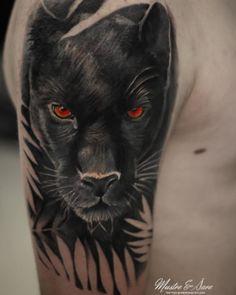 Leopard Tattoos, Black Cat Tattoos, Wolf Tattoos, Animal Tattoos, Tattoos Skull, Animal Sleeve Tattoo, Lion Tattoo Sleeves, Best Sleeve Tattoos, Cover Up Tattoos For Men