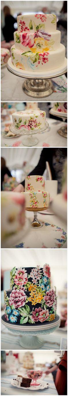 Nevie Pie Cakes. Beautiful hand painted cakes. Beyond stunning.