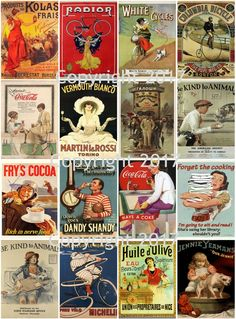 Vintage Ad Poster Images Collage Sheet 104